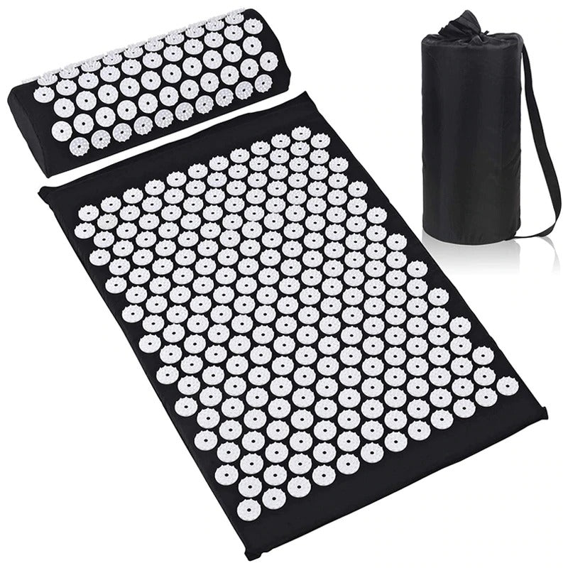 Acupuncture Pillow Massage Yoga Mat Body Stress Pain Reliever Set
