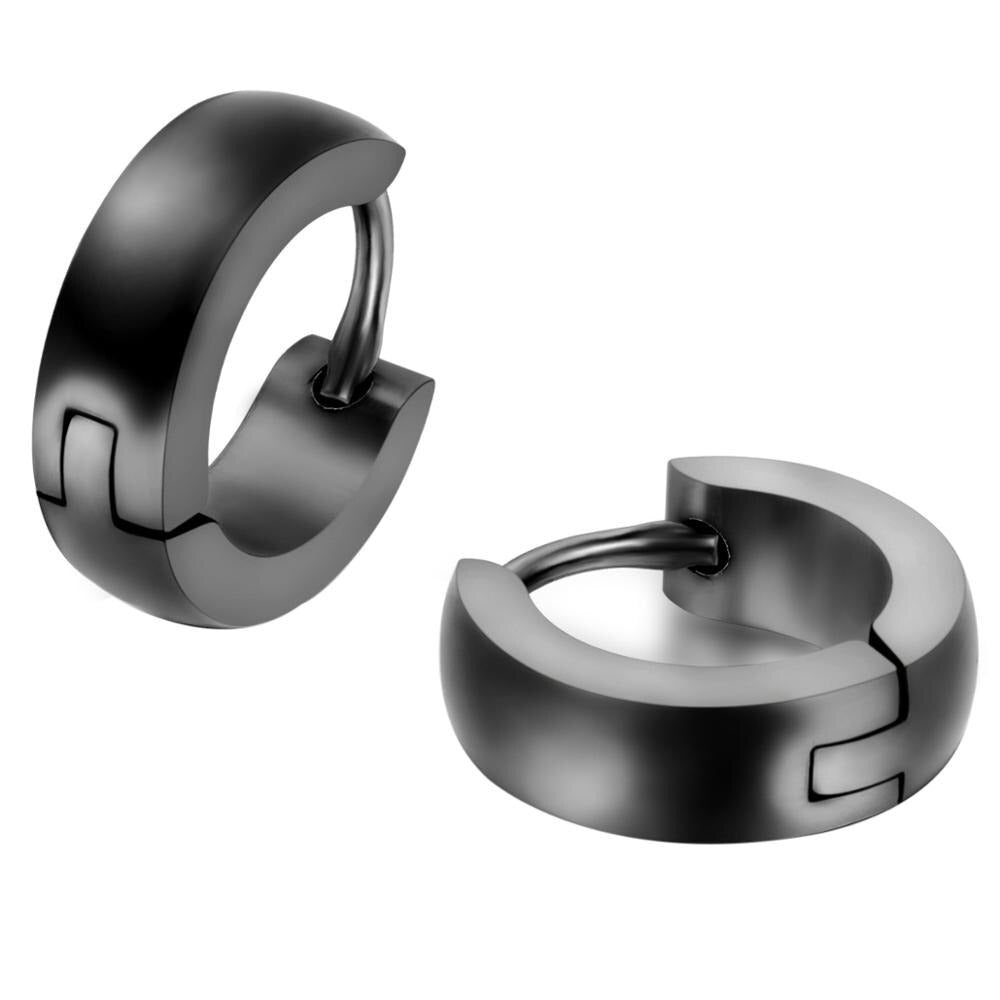 Stainless Steel Stud Earrings for Men Women Hoop Earrings Huggie Piercing