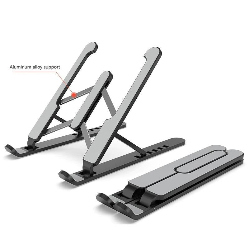 ErgonomiX Portable Laptop Stand, Laptop Stand for Desk, Adjustable Laptop Stand, Laptop Foldable Stand