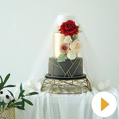 Geometric Wrought Iron Gold/Sliver Cake Stand for Wedding