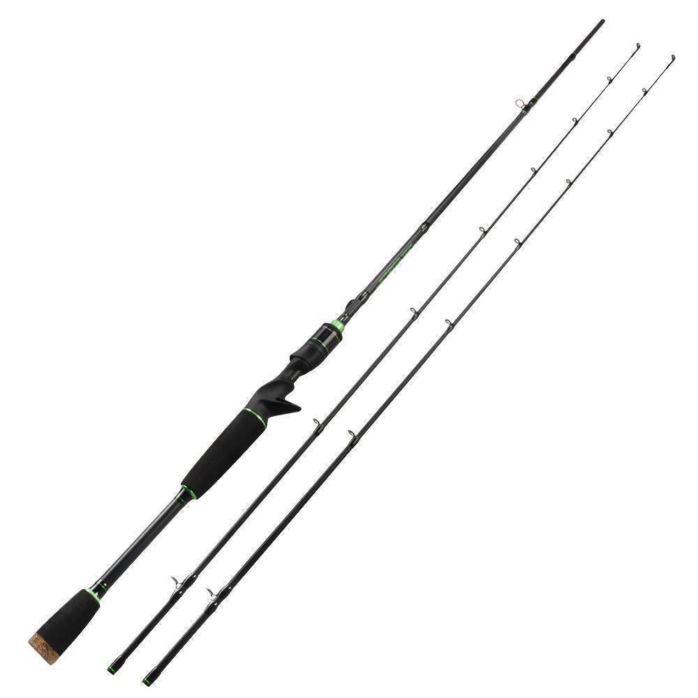 Spartacus Rod Carbon Body Casting Fishing Rod With 2 Rod Tips 1.98M