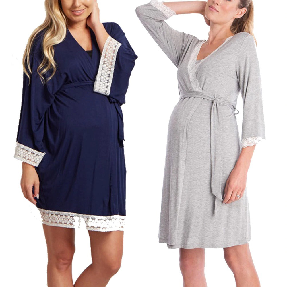 Nightgown Maternity Robe