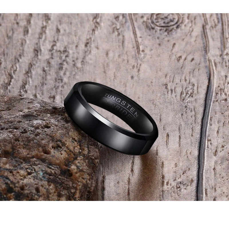 Black Tungsten Spinner Ring Spinning Wedding Band