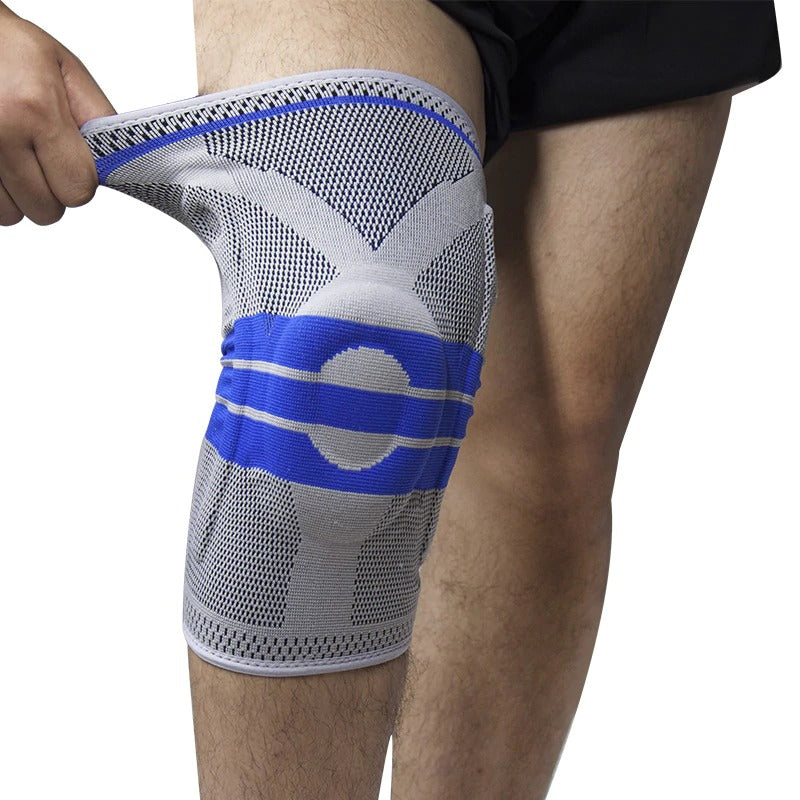 Compression Knee Sleeve - Brace Patella Stabilizer Support (1 Piece) by Eco Brace