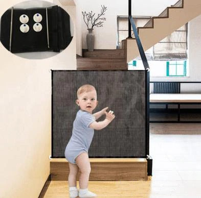 Portable Baby Gate Safety baby Fence Breathable Mesh Security division