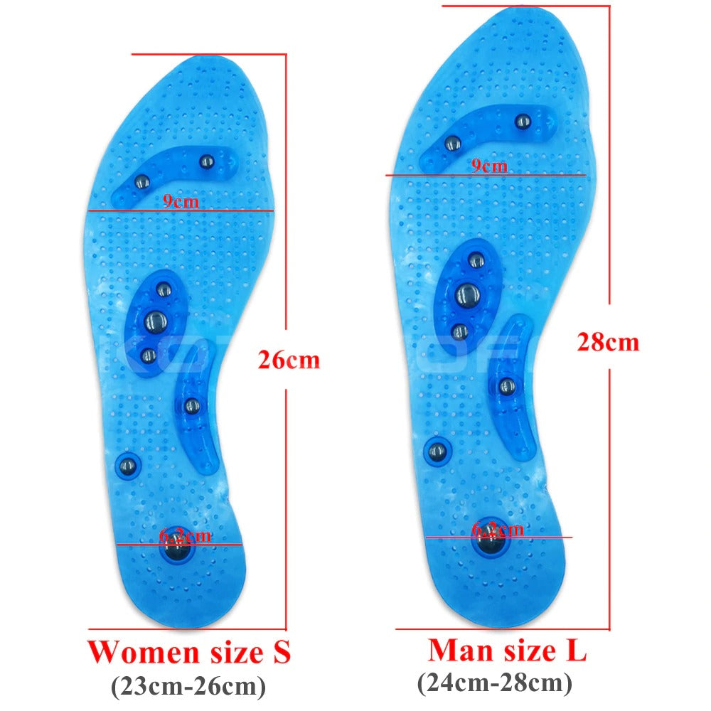 Acupressure Slimming Insoles, Small (Size 23cm to 26cm)
