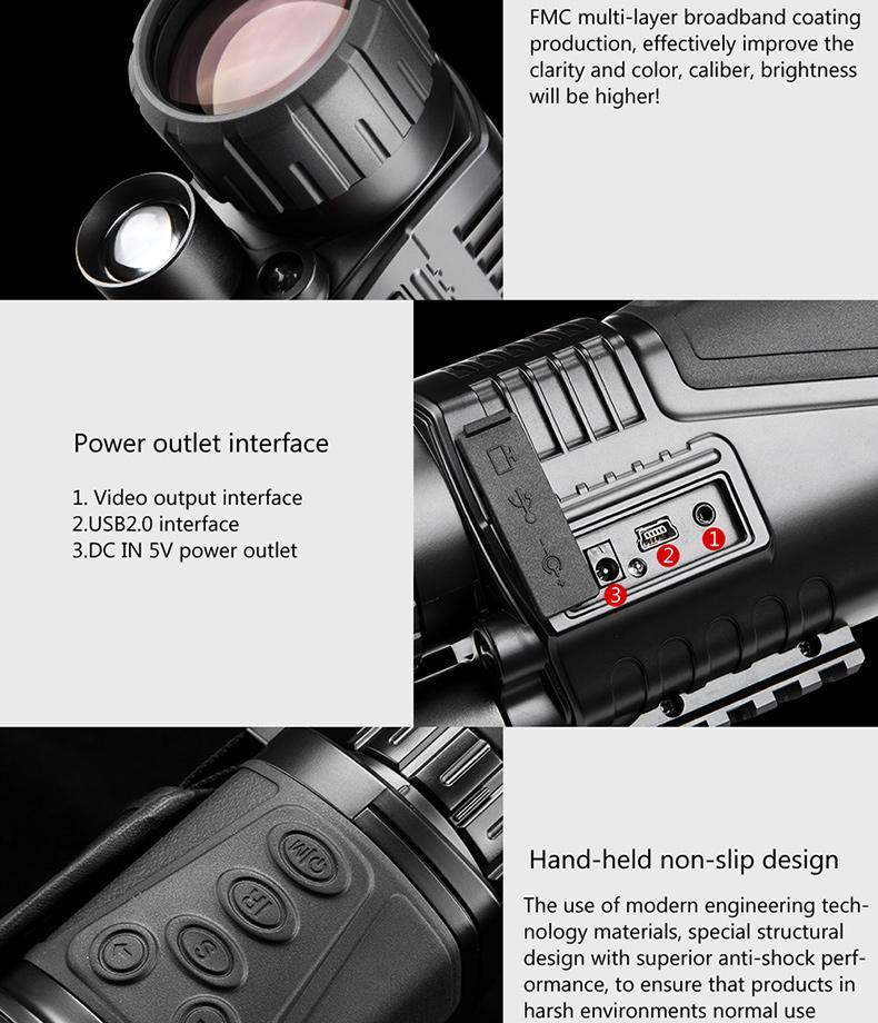 INFRARED NIGHT VISION TELESCOPE MILITARY TACTICAL MONOCULAR POWERFUL HD DIGITAL VISION HIGH QUALITY 5 x 40 - Balma Home