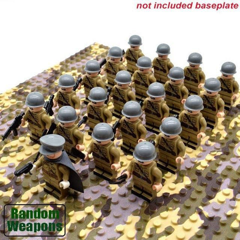 21PCs/set WWII Army Military Building Blocks German France Italy Japan Britain - Balma Home