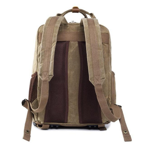 Waterproof Waxed Canvas Camera Backpack