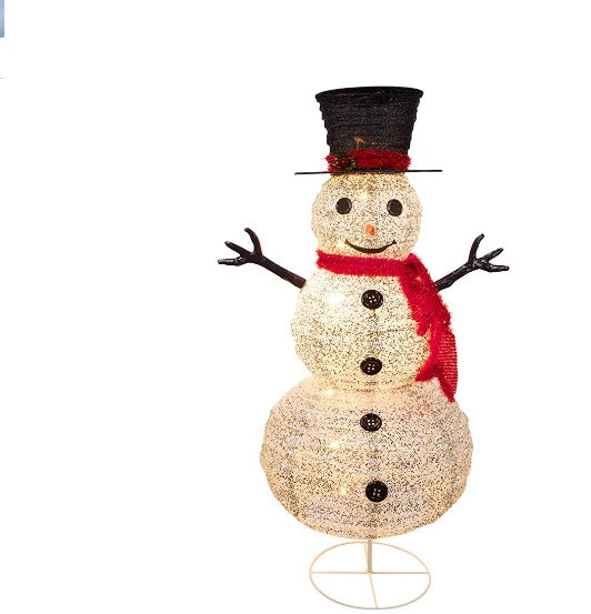 Outdoor Lighted Snowman Christmas Decorations