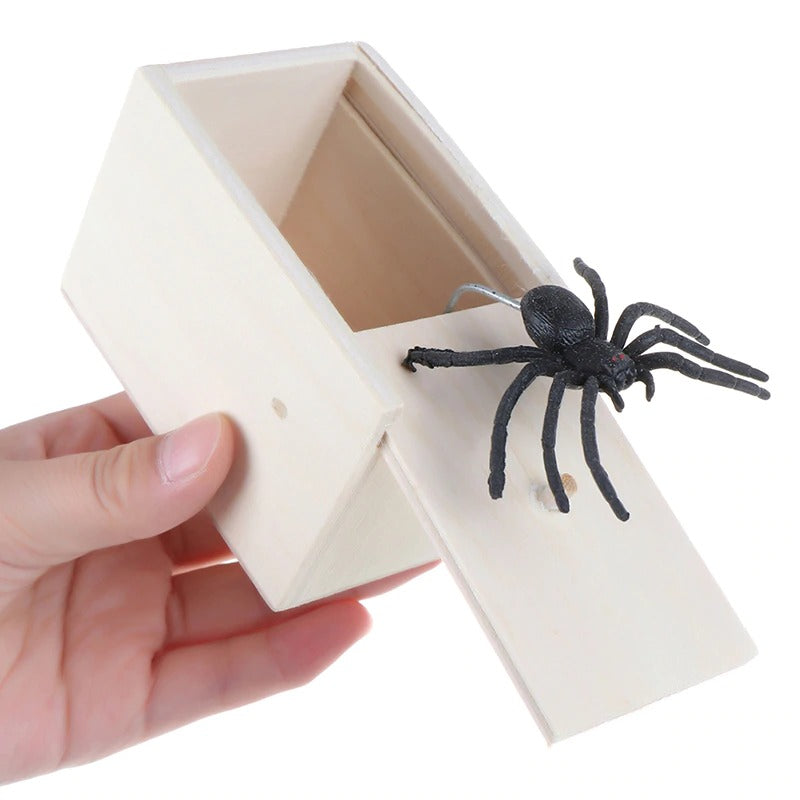 Toy Box Insect Wooden Prank Trick Spider in a box