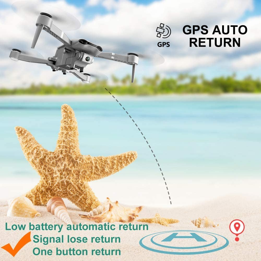 Drone with HD Camera K100 5G WiFi live video FPV 1080P HD Wide Angle Camera Foldable
