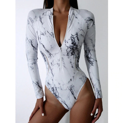 One-Piece Long Sleeve Bathing Suit