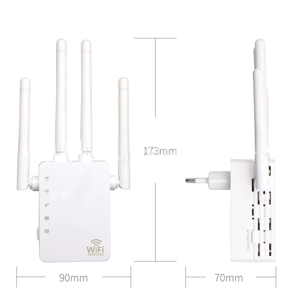Wi-Fi Range Extender Wall Plug, Wireless Wi-Fi Signal Booster Repeater