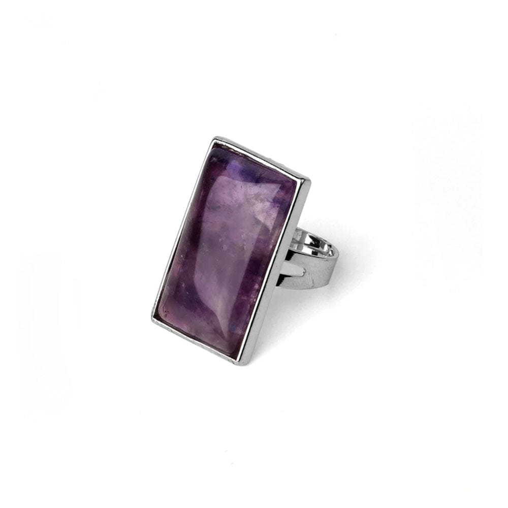 Bague Rectangle <br><b>Améthyste</b></br>