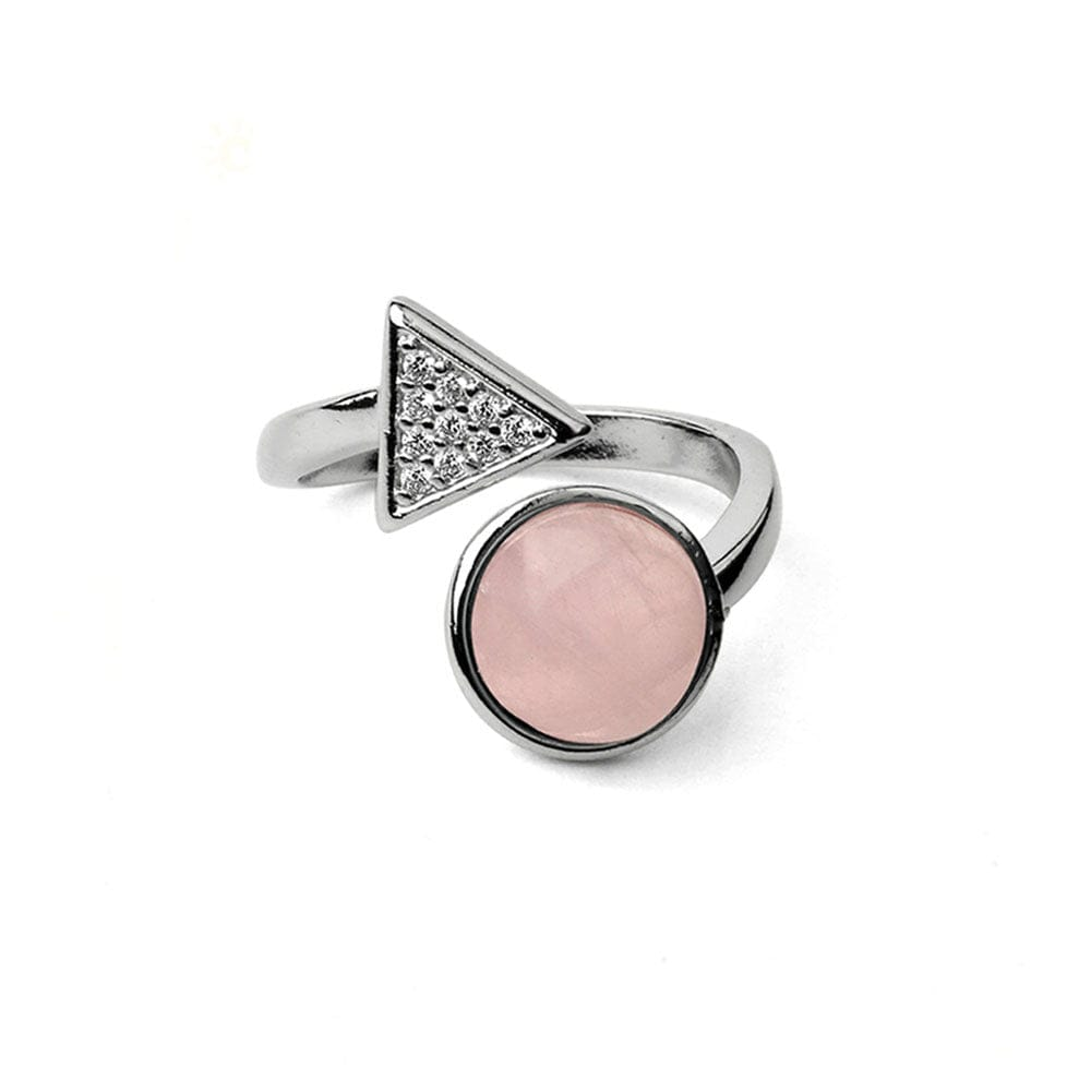 Bague Strass <br><b>Quartz Rose</b></br>
