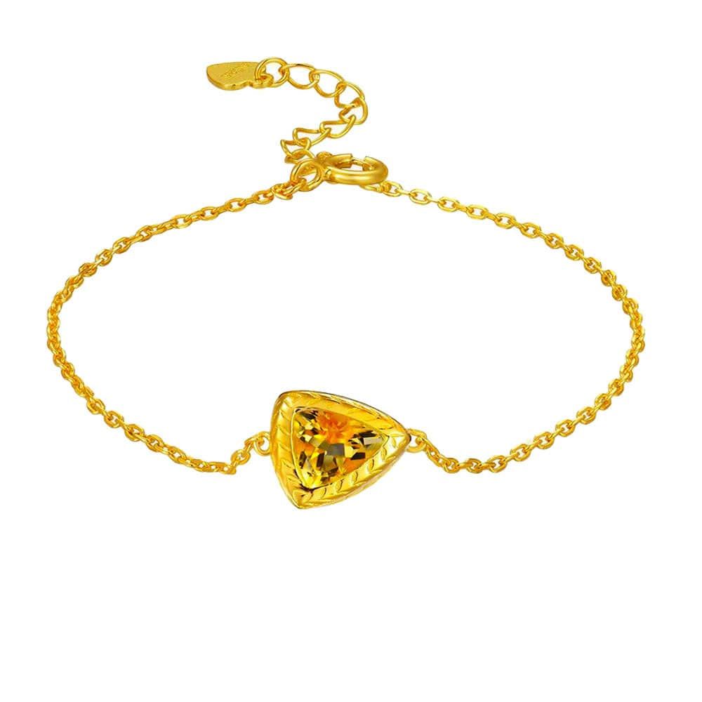 Bracelet Citrine Veritable