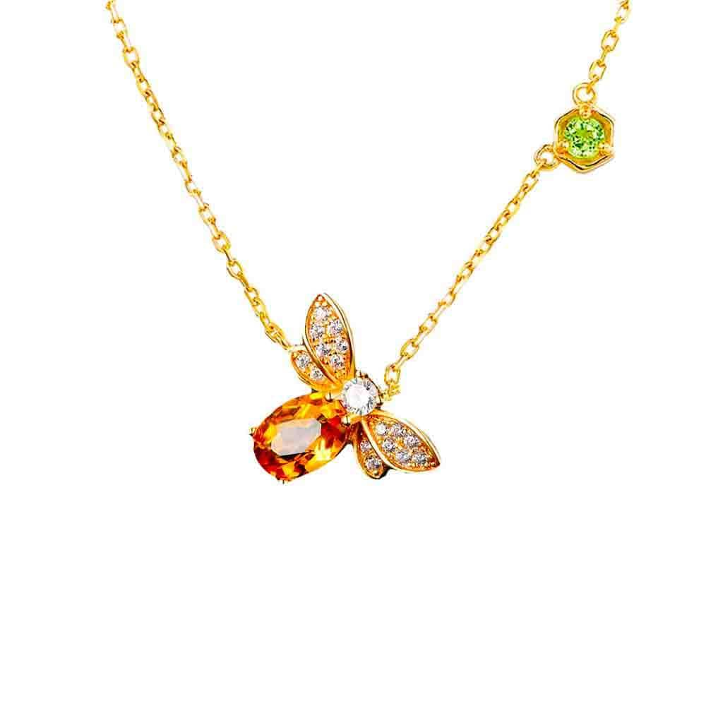Collier Abeille <br><b>Citrine</b></br>