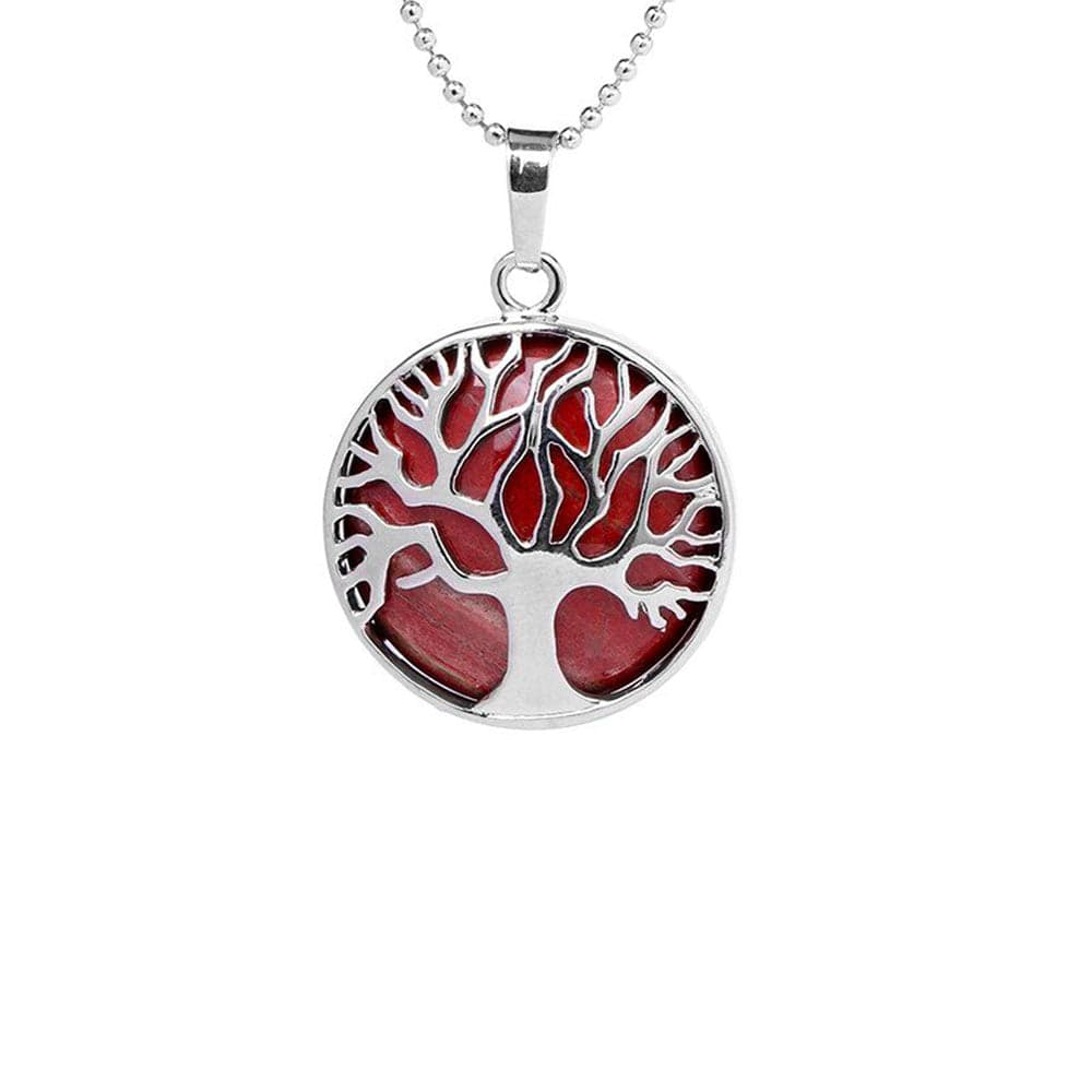 Collier Arbre <br><b>Jaspe Rouge</b></br>