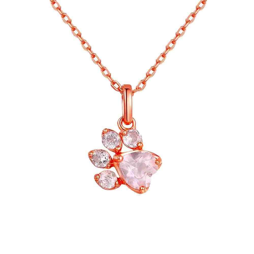 Collier Ours <br><b>Quartz Rose</b></br>