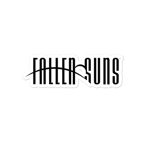 Fallen Suns Black Logo Stickers