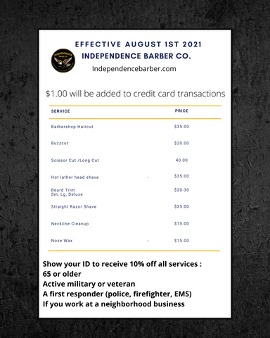 Independence barber co prices