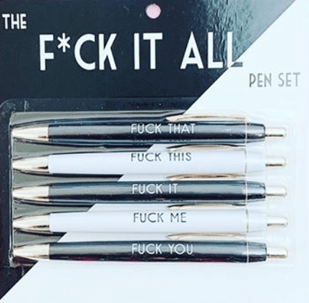 fuck this pen set
