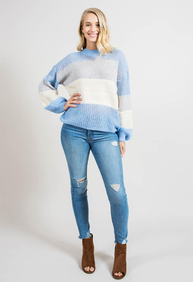Slouchy Colorblock Pullover