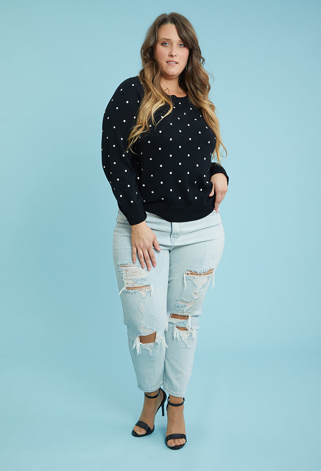 On the Spot Sweater (1X-3X)