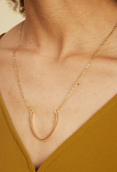18k Gold Plated Horseshoe Necklace