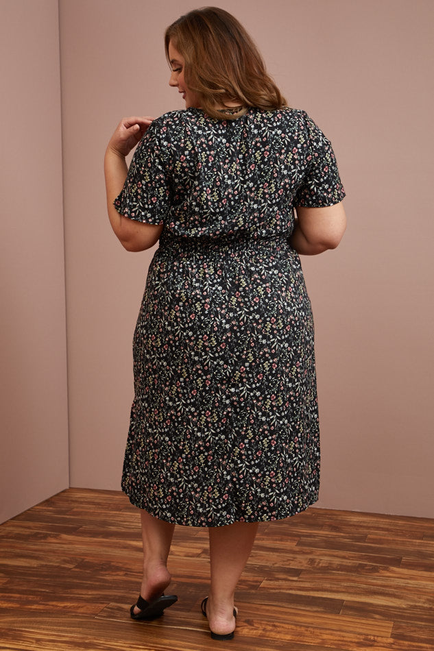 Plus Size- Wildflower Meadow Dress