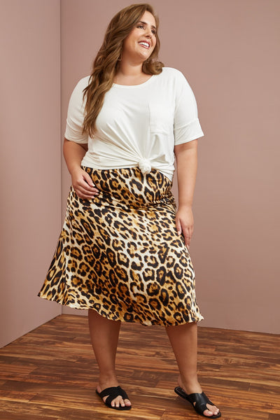 Plus Size- Prowler Midi Skirt