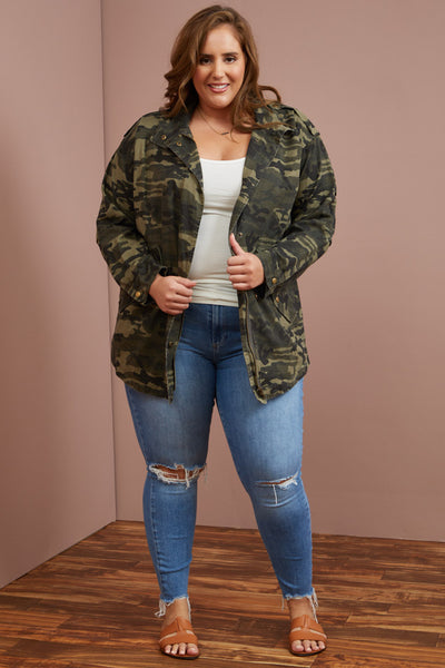 LAST ONE LEFT- Cool Camo Coat (1X-3X)