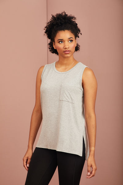Soft Bamboo Sleeveless Pocket Tee