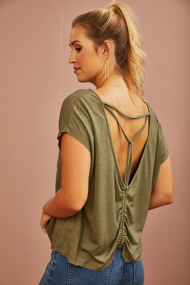 Spruce Back Detail Top