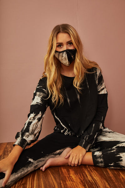 BACK IN STOCK- Storm Tie Dye Pullover w/mask