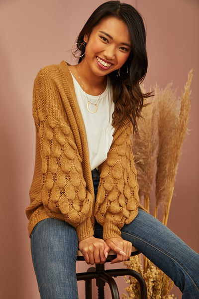 Honey Textured Cardigan