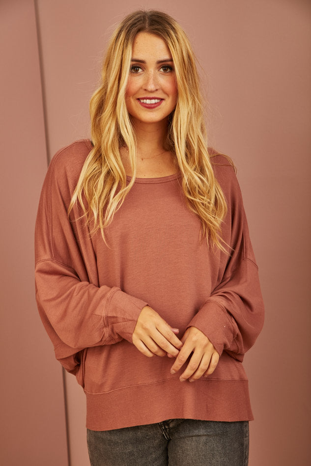 Ginger Slouchy Top