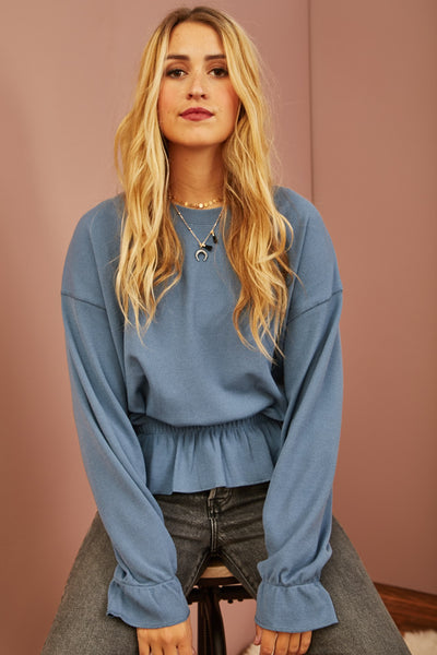 Dove Ruffle Sweatshirt