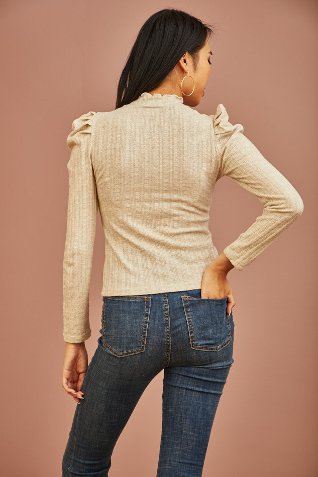 Bisque Ribbed Top