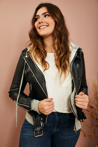 Heather Layered Moto