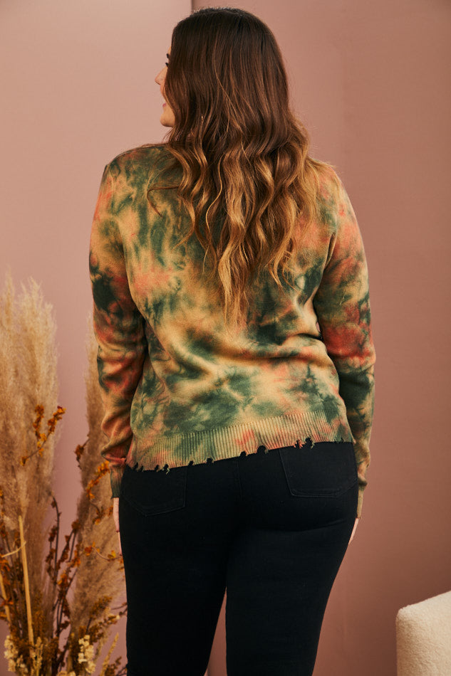 BACK IN STOCK: Rainwashed Tie-Dye Sweater