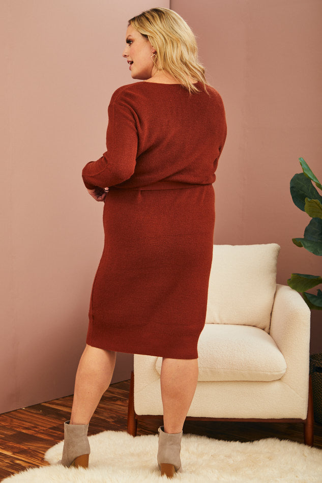 Cinnamon Sweater Dress