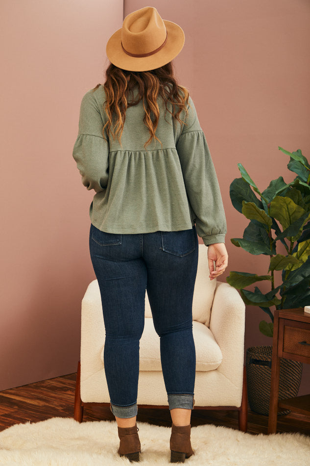 Pine Peplum Thermal