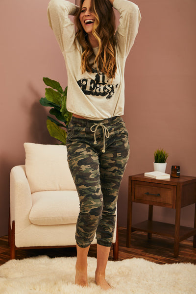 Washed Camo Joggers