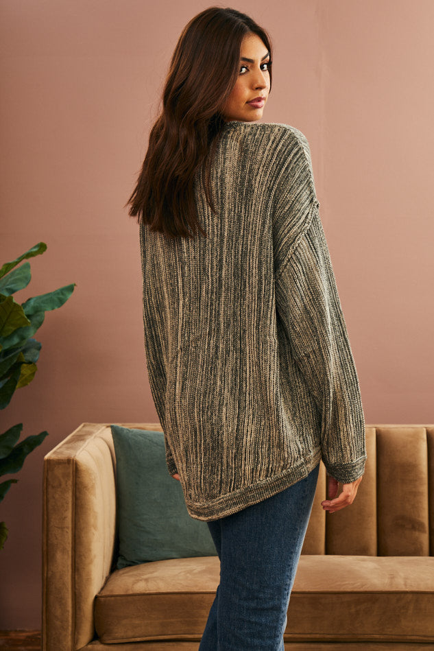 Grove Seamed Knit Sweater