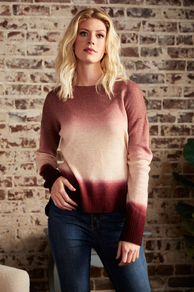 BACK IN STOCK- Woodrose Ombre Sweater