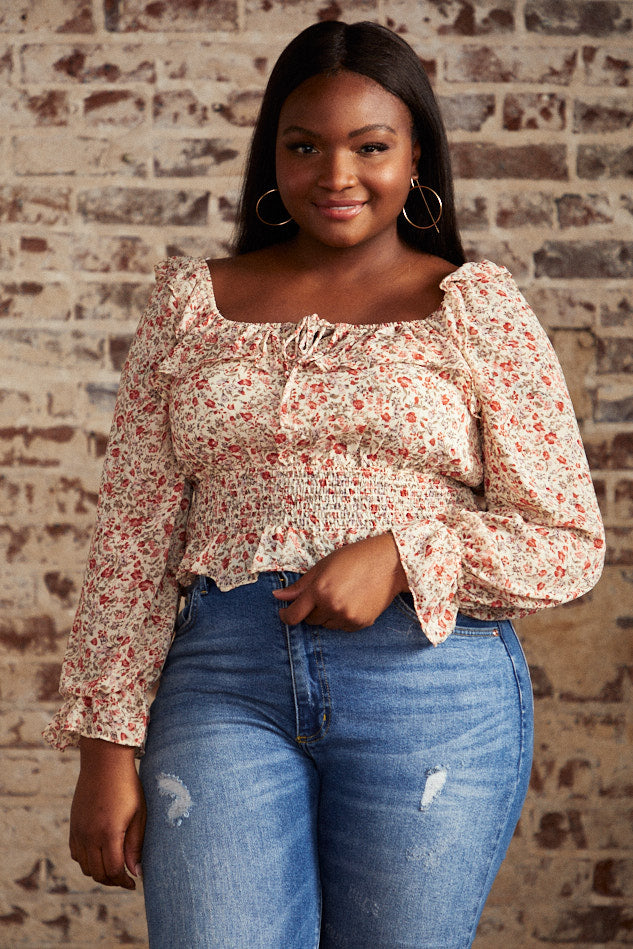 BACK IN STOCK- Spiced Floral Crop Top