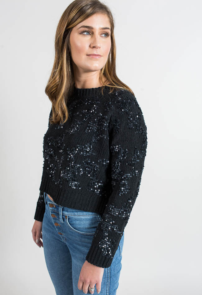 Sequin Swirls Sweater