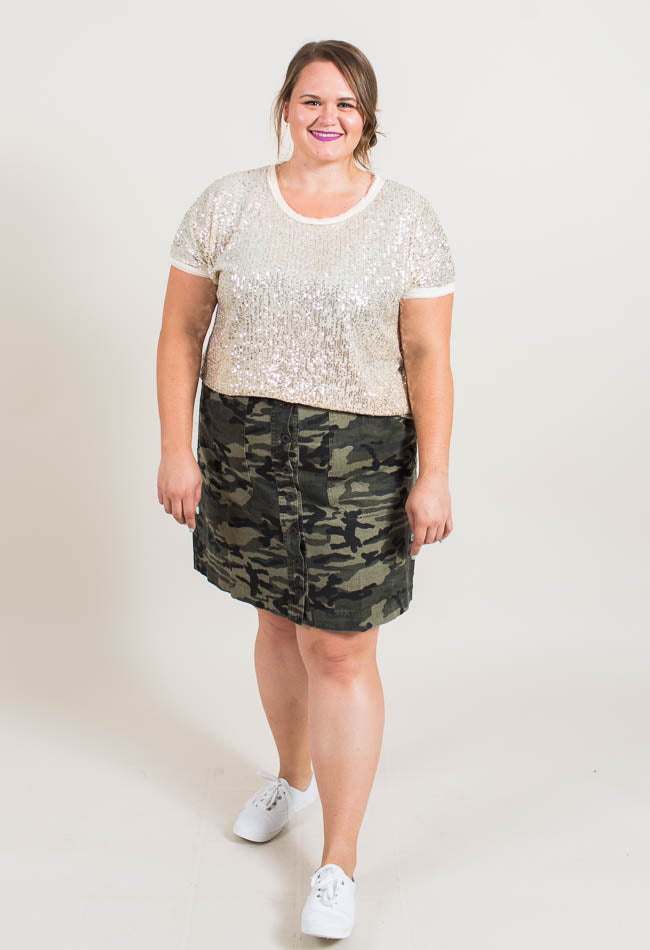 Button Up Camo Skirt Common Assembly